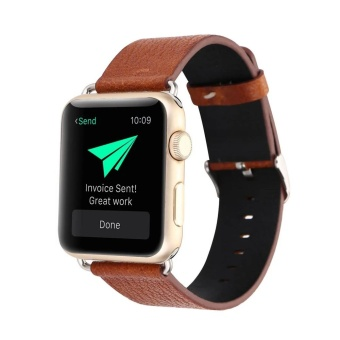 Leather Buckle Wrist Watch Band Strap Belt for Watch Apple Watch38mm - intl - 3