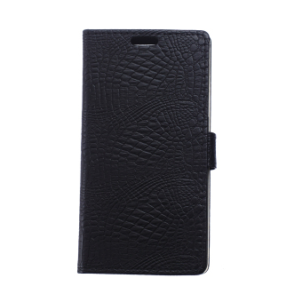 Leather Case Flip Stand Cover for Lenovo K5 Note (Black) - Intl