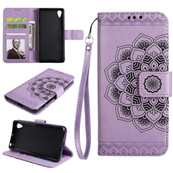 Leather Case Flip Stand Cover for Sony Xperia XA1 Ultra (Purple) -intl