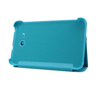 Leather Case Stand Cover For Samsung Galaxy Tab 3 7.0 Tablet T113 T116 Light Blue
