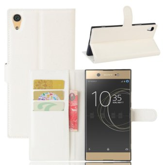 Leather Flip Cover Protective Case For Sony Xperia XA1 Ultra(White) - intl