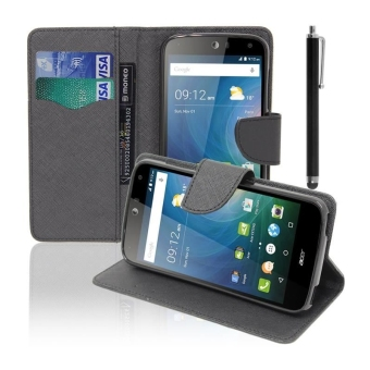 Leather Flip Stand Case Cover For Acer Liquid Z630 Z630S (Black) -intl