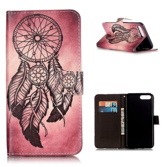 Leather Flip Stand Case Cover For Apple iPhone 7 Plus (Dream Catcher) - intl