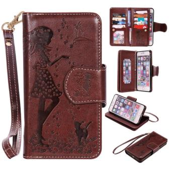 Leather PU Flip Wallet Case for Apple iPhone 6 Plus / 6s Plus -intl