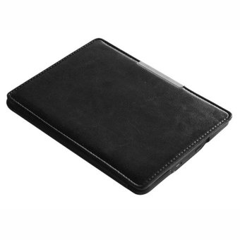 Leather Smart Case Cover for New Amazon Kindle Paperwhite 5 (Black)