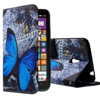 Leather Wallet Cover for Nokia Lumia 1320 (Multicolor)