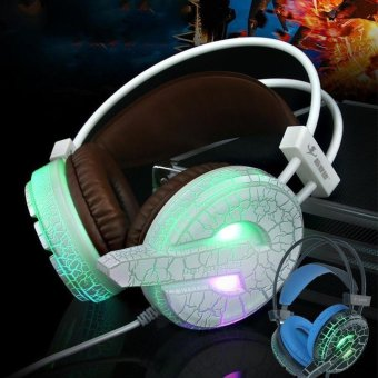 LED Luminous Headphone Gaming Stereo good Bass Big Earphone withMicrophone Gamer headset For PC Computer Player - intl