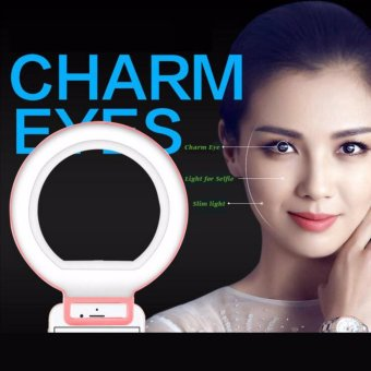 LED Selfie Light Enhancing Dimmable Cellphone Camera Ring Flash Fill-in Light 3 Brightness Levels For Smartphones - intl
