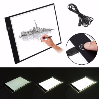 LED Ultra-thin Dimmable Brightness A2 A3 USB Copy Desk Animation Drawing Tracing Stencil Board Table Pad Light Box Drawing Tablet A2 - intl