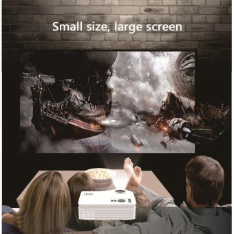leegoal Home HD Projector Mini Portable 1080P Apple Andriod MobilePhone Projector HDMI AV Interface - 5