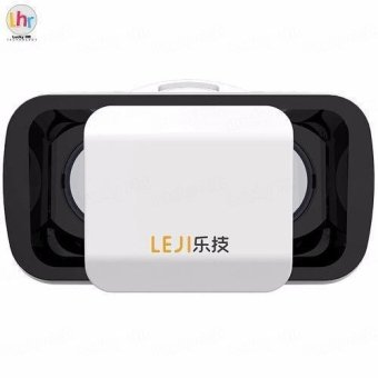 LEJI VR Box VR Mini Immersive 3D VR Virtual Reality Glasses for Smartphones (White)