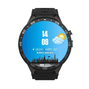 LEMFO KW88 Android 5.1 OS 3G Smart Watch support 2.0MP Camera Bluetooth SIM Card WiFi GPS Heart Rate Monitor (Black) - 2