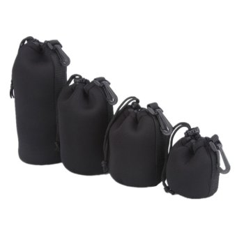 Philippines | Lens Pouch, 4 Pieces Thick Protective Neoprene Pouch/ Bag/ Case Setfor DSLR Camera Lens (Black) Compare & Save
