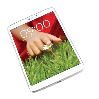 LG G Pad 16GB Tablet (White) with Free LG GPad 8.3 Flip Cover