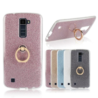 LG K10/K8/K7 TPU transparent fastened ring support soft case phone case