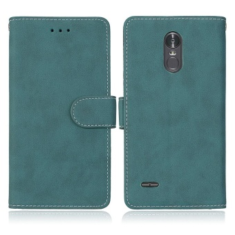 LG Stylus 3 / LG Stylo 3 Case, Retro Frosted PU Leather Flip MagnetWallet Stand Card Slots Protective Case Cover for LG Stylus 3 / LGStylo 3 / LG K10 Pro LS777 (Blue) - intl - 4