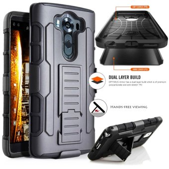 LG V10 Optimus Designer (Black) Phone Case with Kickstand