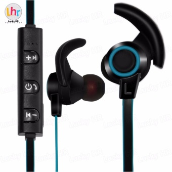 LHR AMW-810 Bluetooth 4.1 Stereo Wireless In-Ear Sports Earphone With Microphone (Black/Blue)