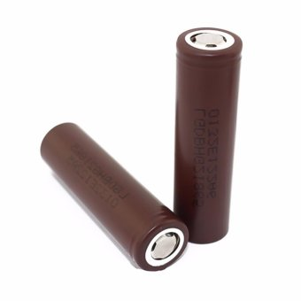 LHR Li-ion 18650 3000mAh 3.7V Battery For Electronic Cigarette (Brown) Set of 2 - 4