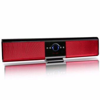LHR TG018 Portable Wireless Bluetooth Soundbar Speaker Super Bass 4.2 2200mAh with Remote Control (Red)