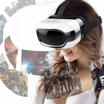 LHR VR-111 VR 3D Glasses Virtual Reality BOX Android 5.1 (Black/White)