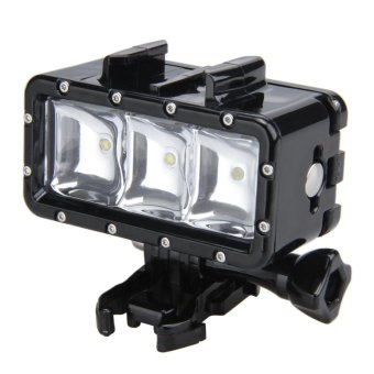 Lightdow 30m Waterproof Diving Led Video Light For Gopro Hero Sjcam Action Camera - intl