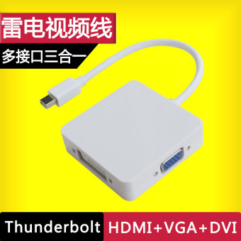 Lightning to VGA Mini to video cable