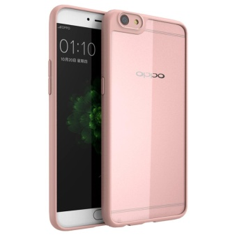 Lightweight Hybrid Case For OPPO R9s Plus / F3 Plus Anti-ScratchClear Acrylic Back + Soft TPU Bumper Cover Pink - intl