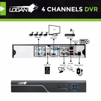 Logan L-DX441M-ND Night Vision CCTV 720P Weatherproof 4Pcs Metal Bullet Camera & 1080N 4CH HD DVR (No HDD Included) - 4
