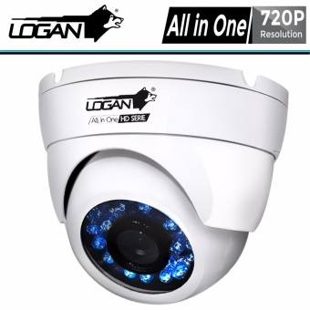 Logan LX1W HD-TVI Analog Night Vision CCTV 720p Indoor 1Pc Metal Dome Cameras (White)