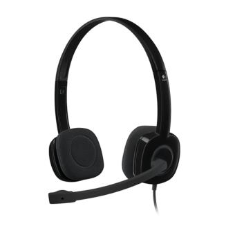Logitech H151 Stereo Headset with Noise Cancelling Mic (Black)