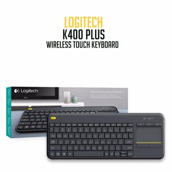 Logitech K400 Plus Wireless Touch Keyboard (Black) - 3