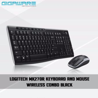 Logitech MK270 Wireless Keyboard and Mouse Wireless Combo (Black)