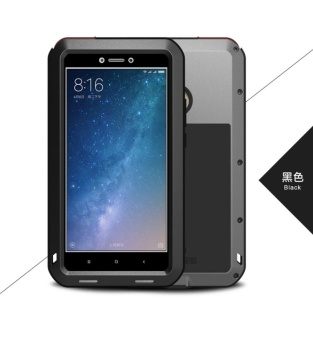 LOVE MEI Metal Waterproof Case For Xiaomi Max2 Shockproof Back Cover Shell Phone Case Aluminum Protection Gorilla glass 6.44 inch - intl