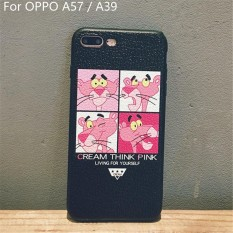 Lovely Pink Panther Phone Case Litchi Texture PU Leather Soft Cover Cartoon Fortune