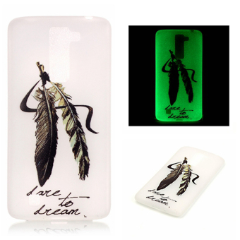 Luminous Fluorescent Glow Soft TPU Phone Back Case Cover for LG K10(Feather)