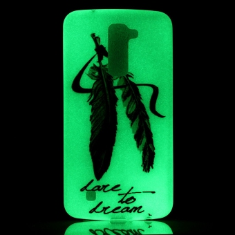 Detail Images Luminous Fluorescent Glow Soft TPU Phone Back Case Cover for LG K10(Feather