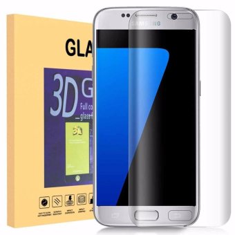 LUOWAN Galaxy S7 Edge Screen Protector 3D Curved Electroplate Full Coverage Tempered Glass Screen Protector Film for Galaxy S7 Edge (Clear)