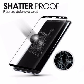 LUOWAN Galaxy S8 Plus Tempered Glass Screen Protector,[2 pack]3DFull Coverage Screen Protector for Samsung Galaxy S8 Plus(Black) -intl - 3