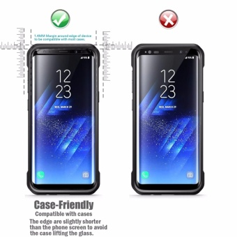 LUOWAN Galaxy S8 Screen Protector,New Curved Full Tempered GlassScreen Protector Film [Non-full screen][Bubble Free ][ScratchResistant][Easy Installation] For for Samsung Galaxy S8 5.8 inch(Black) - 4