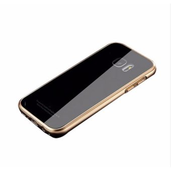 Luphie Case For Samsung Galaxy S7 Edge metal frame Phone TemperedGlass back cover For Samsung Galaxy S7 Edge - intl