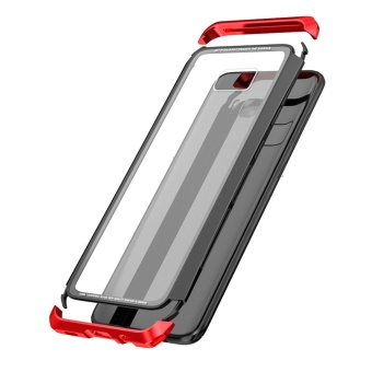Luphie Toughend Glass Back Aluminum Metal Frame Case Cover forSamsung Galaxy S8 Plus - intl - 4