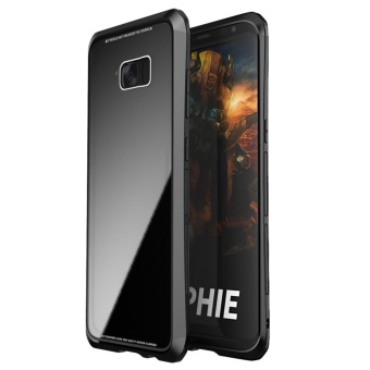 Luphie Toughend Glass Back Aluminum Metal Frame Case Cover forSamsung Galaxy S8 Plus - intl