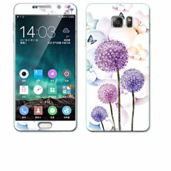 Luxury 3D Painting Front+Back Full Case Cover Color Tempered Glass Case For Samsung Galaxy Note 5 5.7 inch Screen Protector Film (Color-24) - intl