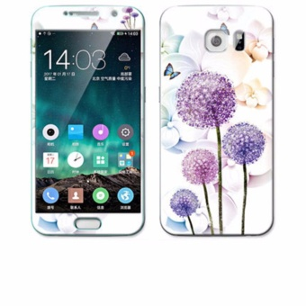 Luxury 3D Painting Front+Back Full Case Cover Color Tempered Glass Case For Samsung Galaxy S6 G9200 G9208 G9209 5.1 inch Screen Protector Film (Color-24) - intl
