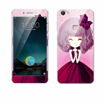 Luxury 3D Painting Front+Back Full Case Cover Color Tempered Glass Case For vivo X6 x6d x6a x6s Screen Protector Film (Color-1) - intl