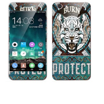 Luxury 3D Painting Front+Back Full Case Cover Color Tempered GlassCase For Vivo Y53 Screen Protector Film (Color-2) - intl