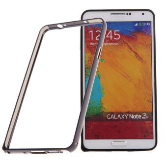 Luxury Aluminum Metal Bumper Frame Case for Samsung Note 3 (Black)