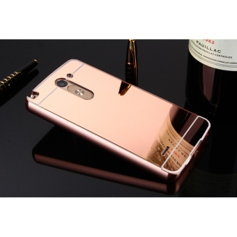 Luxury Metal Frame And Mirror PC Back Cover Case For LG G3 Stylus - intl