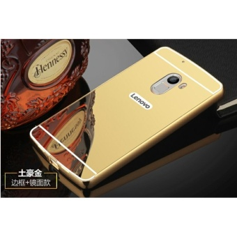 Luxury Mirror Bumper Anti-Scratch Bright Protective Case For Lenovo K4 note(gold) - intl